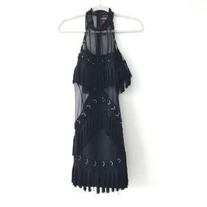 NWT Beaded/Mesh Mini Dress